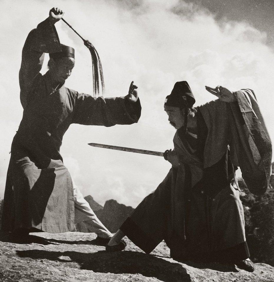 una delle cinque montagne sacre taoiste, fotografati nel 1935.
