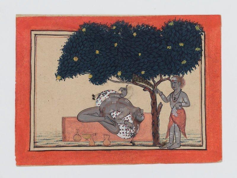 Straordinari poteri attribuiti alla pratica delle austerità. ndia, Himachal Pradesh, Mandi, 1725–50